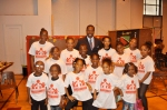 Campers with NY City Council Member Mathieu Eugene