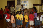 Learning Folk Songs of the Caribbean with Teachers Hilton & Akoyaw